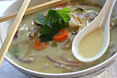 Thai Turkey Soup--the perfect use for left over Thanksgiving turkey!!