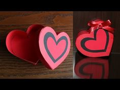 A beautiful heart shaped gift box out of paper. Diy Gift Box, Paper Gift Box, Paper Gifts, Diy Gifts, Gift Boxes, Handmade Gifts, Valentines Gift Box, Valentine Crafts, Diy Flower Boxes