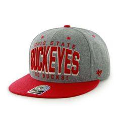 NCAA Ohio State Buckeyes Cobblestone Two-Tone Snapback Cap (Gray 4735a1b69