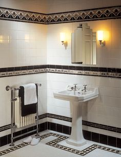 Art Deco tile by Original Style Glass in interior