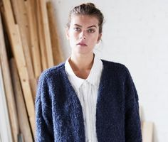 Casual damesvest blauw | Veritas BE Men Sweater, Knitting, Crochet, Sweaters, Knits, Fashion, Knit Stitches, Loom Knit, Madeleine