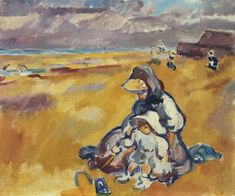 Mother and Child on the Beach by Louis Valtat, 1909 Monet, St Raphael, Alfred Stevens, Gauguin, Pierre Bonnard, Henri Matisse, Renoir, French Artists, Mother And Child