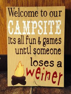 Camping diy sign