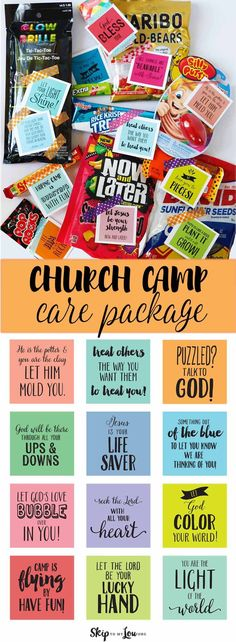 Free printable care package notes to pair with treats to ensure you have a happy camper!
