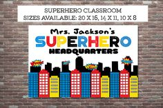Superhero Classroom, Teacher Appreciation Gift,Teacher Gifts, Superhero Teacher,DIY PRINTABLE,Superhero Teacher Print, Superhero Class by CottageArtShoppe on Etsy