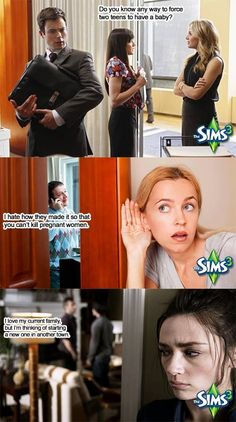 When people overhear you talking about the Sims in public...