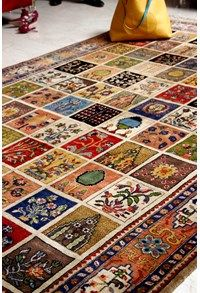 Wool Decorative Recreations,The Carpet Cellar,Mughal Jail Collection-Qum<br>TCC-5517<br>9.11 Feet X 6.7...