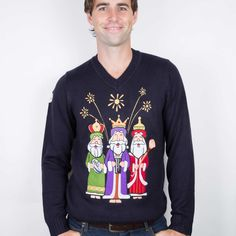 3 Kings Christmas Jumper delivered to Ireland, UK, Australia and everywhere else in the world Mens Christmas Jumper, Christmas Jumpers, Party Scene, Hurley, Graphic Sweatshirt, King, Sweatshirts, Rugby, Incense