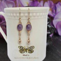 Amethyst Dangle earrings Amethyst Earrings Gold Gemstone Earrings Gold,  Jewelry, 14K Gold Filled amethyst Yellow Earrings, women's earrings de malisaccesoriosJoyas en Etsy