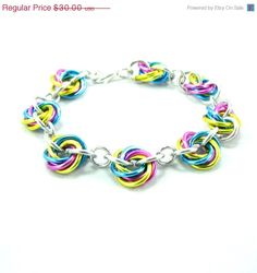 ON SALE All for Love Rosette Chainmaille Bracelet