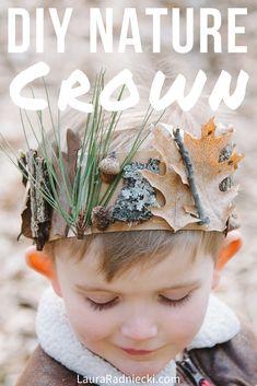 Forest School Activities, Nature Activities, Activities For Kids, Toddler Art, Toddler Crafts, Projects For Kids, Diy For Kids, Fun Art Projects, Crown For Kids