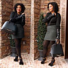 {A Tweed Skirt} Eboni, Fashionista Next Door