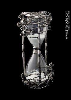 Skeleton hour glass