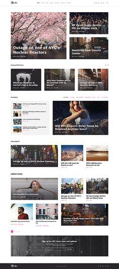 Hotmagazine News Magazine Html Template Magazine Website
