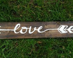 Rustic FAITH HOPE or BELIEVE Quote Wood Pallet Sign *** This Listing is for one QUOTE ARROW SIGN  I created this piece all by hand. I sketched out