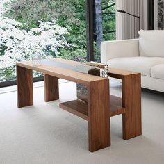 #cork2 #walnut coffee table. Solid walnut and cork with book shelf. #duboiscollection