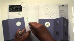 card making video tutorial: Double Peek a Boo card with Dawn ... super cleve sliding panel ...