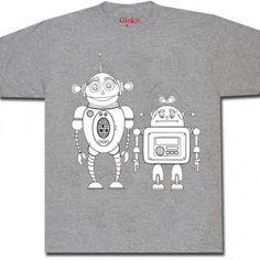 ROBOT t-paita harmaa