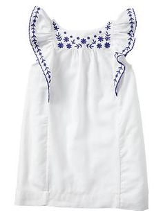 Embroidered flutter dress | Gap