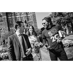 Here's a sneak peek from Meg and Nick's private ceremony this past weekend! Their friend, Bradley Cooper, was visiting Georgetown and made sure to congratulate the newlyweds as they walked around campus. 😁 #thecoops