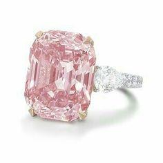 Rare super huge pink diamond ring <3 <3 <3 #hugediamondrings