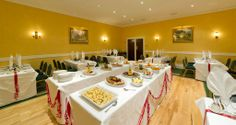 A Wedding's Evening Buffet Imperial Hotel, North Devon, Luxury Accommodation, Buffet, Table Settings, Yummy Food, Dining, Events, Weddings