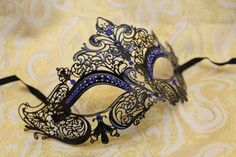 I found 'Mysterious Laser Cut Venetian Mardi Gras Masquerade Mask with Sparking Blue Rhinestones' on Wish, check it out!