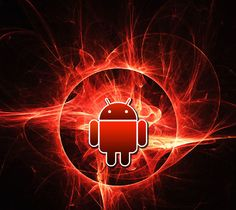 android logo wallpaper fire