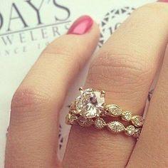 Anel de noivado da joalheria @daysjewelers