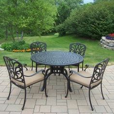Hampton 5 Piece Dining Set with Cushion by Oakland Living. $1259.00
