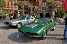 """1969 Bertone BMW 2800 """"Spicup"""" Concept.... lime green and black interior"""