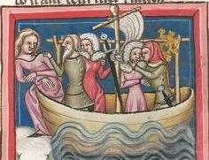 Rudolf / Jansen Enikel, Jans: Weltchronik in Versen - Mischhandschrift aus Christ-herre-Chronik um 1370 Cgm 5  Folio 161r