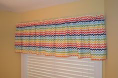 Multi-Color Chevron Valance. $45.00, via Etsy. (kitchen?)