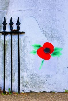 Poppy Railings by Martin in Twickenham, via Flickr. www.lenslocker.co.uk lens hire and camera hire london.