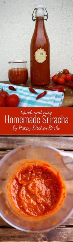 Quick and easy Homemade Sriracha sauce, perfect for any kind of grilled meat or … – Kolay yemek Tarifleri Spicy Sauce, Cuisines Diy, Hot Sauce Recipes, Sauce Barbecue, Salsa Picante, Happy Kitchen, Homemade Sauce, Homemade Butter, Carne Asada