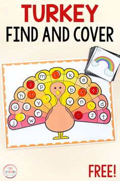 Turkey Find and Cover the Letters Alphabet Activity A fun turkey alphabet activity for Thanksgiving literacy centers in preschool and kindergarten. Kids will have a blast learning letter sounds and letter identification with this fun turkey activity! Printable Activities For Kids, Alphabet Activities, Language Activities, Kindergarten Activities, Preschool Printables, Preschool Alphabet, Alphabet Crafts, Class Activities, Holiday Activities