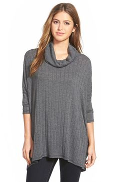 Bobeau Cowl Neck Swing Sweater available at #Nordstrom