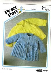779e085bc593b New Listing Started 448 Peter Pan Knitting Pattern Baby Jackets 16-20