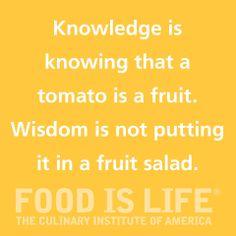 Knowledge vs. Wisdom.