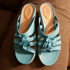 Solesensibility wedge sandals Turquoise Solesensibility  Shoes Sandals