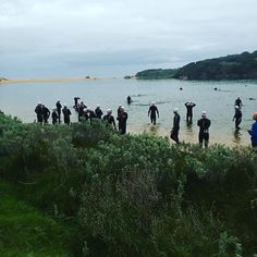 Good morning #warrnamboolsufferfest 7.26 am ready to race #warrnambool #triathlonclothing #triathlete #sufferfest2016 #swim #ride #run by bryla_sports
