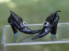 Miniature witch shoes for haunted #dollhouse