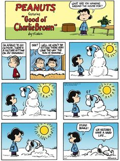 """Snowman...   - """"Peanuts"""" by Charles Schulz;  2/1/15"""