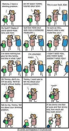 Drinking Problem. Cyanide and Happiness