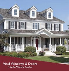 Example of exterior view of new vinyl replacement windows by Zen Windows of Austin