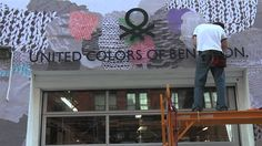 The Art of knit - Making of the New York Benetton Pop Up Store