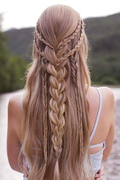 Half-Up Half-Down Prom Braided Hairstyles picture2