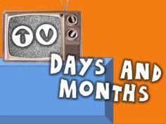 TV Days and Months (calendar song for kids) Calendar Time Kindergarten, Teaching Calendar, Preschool Calendar, Kids Calendar, Kindergarten Math, Elementary Math, Morning Meeting Songs, Morning Songs, School Songs
