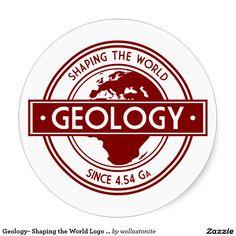 Géologie formant le logo du monde (l'Europe) Sticker Rond