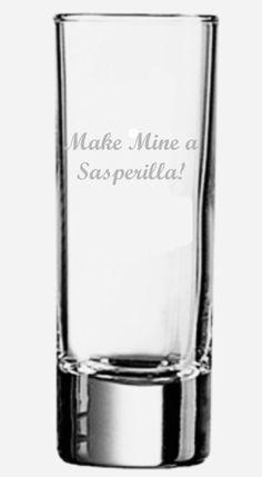 Calamity Jane engraved shot glass